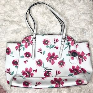 White Floral Guess Purse